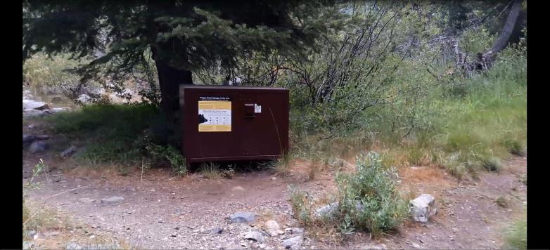 trail right, campsite left